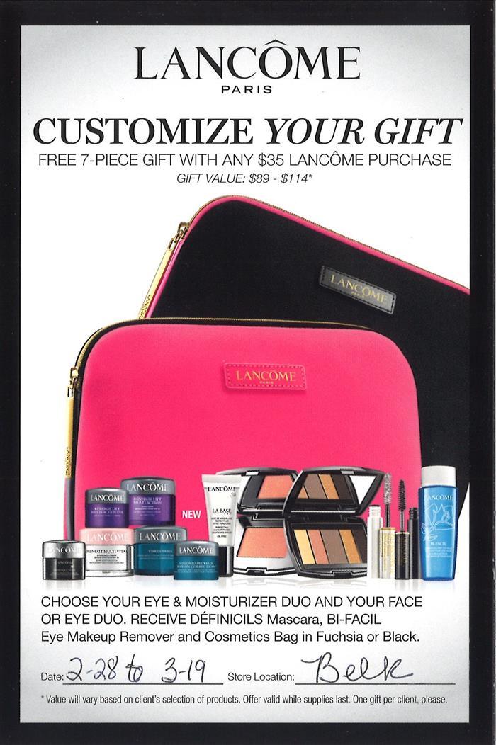 Lancome - Customize Your Gift | Ashland, KY | Ashland Town Center